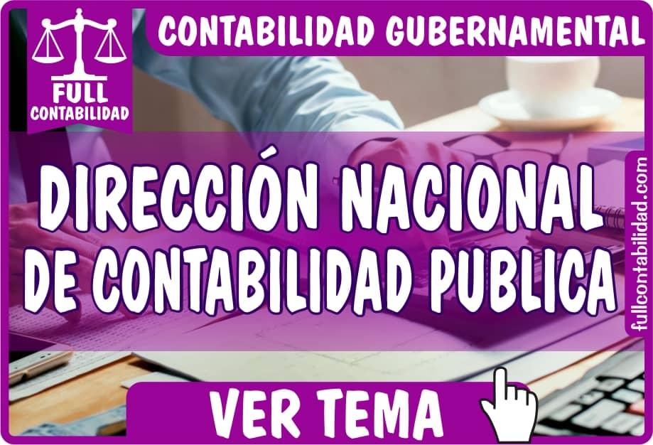 Dirección Nacional de Contabilidad Publica - Contabilidad Gubernamental - fullcontabilidad