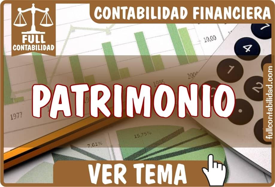 Patrimonio - Contabilidad Financiera - fullcontabilidad