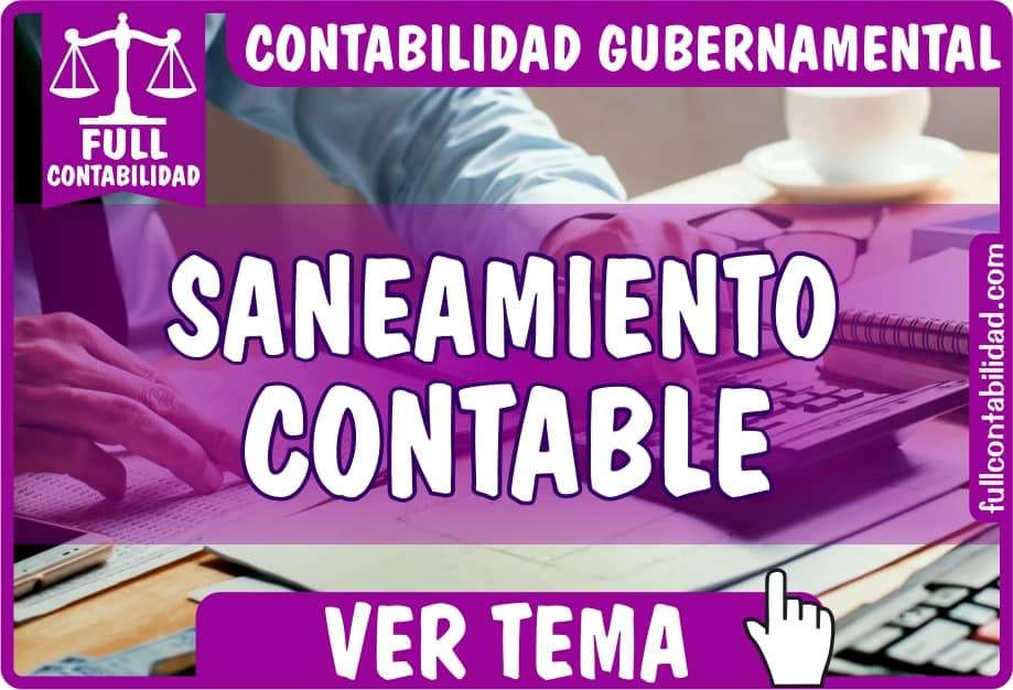 Saneamiento Contable - Contabilidad Gubernamental - fullcontabilidad